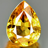 Genuine YELLOW SAPPHIRE .99ct 7.5 x 5.6 x 3.2mm Pear