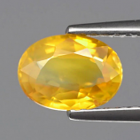 Genuine Yellow Sapphire 1.56ct 7.8x5.5x3.5mm SI1 Tanzania