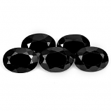 Genuine 100% Natural Black Spinel 1.08ct 7.0x5.1mm Opaque Thailand