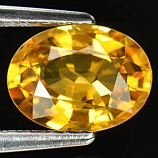 Genuine Yellow Sapphire 1.53ct 8.1 x 6.1mm Thailand SI