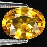 Genuine Yellow Sapphire 1.53ct 8.1 x 6.1mm Thailand SI