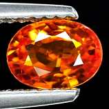 Genuine ORANGE SAPPHIRE 1.18ct 7.0 x 5.1 x 3.1mm Oval