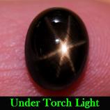Genuine Black Star Sapphire 3.81ct 9.3 x 7.1 Madagascar
