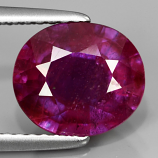 Genuine Purple Sapphire 3.29ct 9.3x8.0x4.9mm SI2 Madagascar