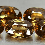 Genuine 100% Natural Imperial Zircon .81ct 6.2 x 4.2mm Oval VS1 Clarity