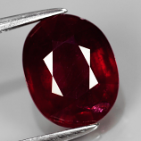 Genuine Ruby 4.01ct 10.0 x 8.0mm Oval SI2 Clarity