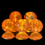 Genuine 100% Natural Fire Opals 0.36ct 5.0 x 5.0 Mexico VVS