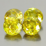 Genuine 100% Natural (4) Sphene 0.60ct 5.0x5.0x3.4mm VS1 Madagascar