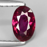 Genuine 100% Natural Ruby 0.48ct 5.8x3.8x2.3mm SI1 Madagascar
