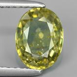 Genuine Green Sapphire 1.61ct 8.0x6.2x3.2mm SI2 Madagascar