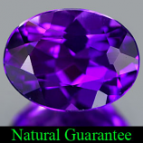 Genuine 100% Natural AMETHYST 1.19ct 8.0 x 6.1mm Oval