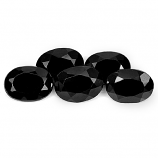 Genuine 100% Natural Black Spinel 1.01ct 7.1x5.1mm Opaque Thailand