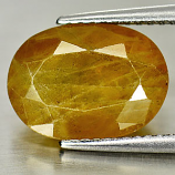 Genuine Yellow Sapphire 5.23ct 12.1 x 8.8mm Oval SI1 Clarity