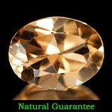 Genuine 100% Natural Imperial Topaz 1.28ct 8.0 x 6.0mm Brazil VVS