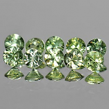 Genuine Green Sapphires 0.12cts 2.9x2.9x2.1 VS1 Thailand