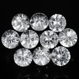 Genuine 100% Natural Set WHITE SAPPHIRES (52) 5.27cts 2.7 x 2.7mm Round Diamond Cut