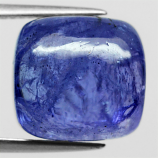 Genuine 100% Natural Cabochon Tanzanite 12.51ct 12.5 x 11.8mm Square Semi Transparent