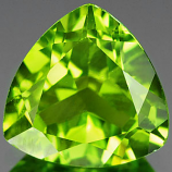 Genuine 100% Natural PERIDOT 3.35ct 10.0 x 9.8 x 5.4mm Trilliant