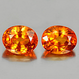 Genuine Orange Sapphires 0.57ct 5.2x4.2x3.2mm VS1 Tanzania