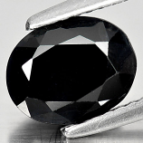 Genuine Black Sapphire 2.55ct 8.9 x 7.1mm Oval Opaque