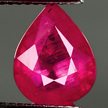 Genuine RUBY 3.62ct 10.4 x 8.3 x 5.2mm Pear