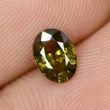 Genuine Green Sapphire 0.94ct 6.8x5.0x3.2mm SI1 Madagascar