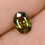 Genuine Green Sapphire 0.94ct 6.8x5.0x3.2mm SI1 Madagascar