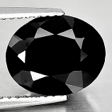 Genuine 100% Natural Black Spinel 3.38ct 10.5x8.6mm Opaque Thailand