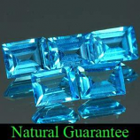 Genuine Swiss Blue Topaz 0.63cts 6.0 x 3.9 x 2.5mm Brazil VVS