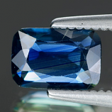 Genuine BLUE SAPPHIRE .78ct 6.8 x 4.5 x 2.0mm Octagon
