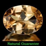 Genuine 100% Natural Imperial Topaz 1.19ct 7.8 x 5.8mm VVS