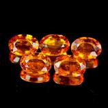 Genuine Orange Sapphire .50ct 5.8 x 4.1 x 2.4mm Tanzania VVS