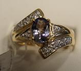 Chameleon Tanzanite Gold Ring 0.63ct 14K Yellow Gold Size 7 (Certified)