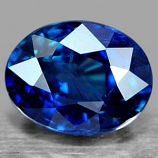 Genuine 100% Natural Blue Sapphire 1.03ct 6.49x5.04x3.60 SI Thailand (Certified)