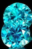Genuine 100% Natural BLUE ZIRCON 1.98ct (Pair) 5.5 x 5.5mm Round