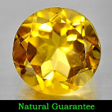 Genuine 100% Natural Citrine 3.74ct 10.0 x 10.0mm Round VS1 Clarity