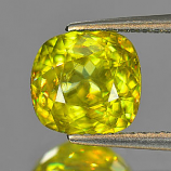 Genuine 100% Natural Sphene 2.40ct 8.0 x 7.7mm Cushion VS1 Clarity