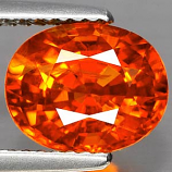 Genuine ORANGE SAPPHIRE 3.36ct 9.4 x 7.6 x 4.6mm Oval
