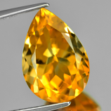 Genuine 100% Natural Citrine 5.87ct 14.5 x 10.0mm Pear SI1 Clarity
