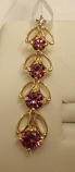 Pink Garnet Gold Pendant 1.0cts 14K Yellow Gold (Certified)