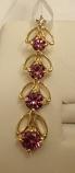 Pink Garnet Gold Pendant 1.0cts 14K Yellow Gold (Certified)