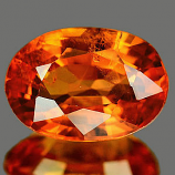 Genuine Orange Sapphire 1.08ct 7.2 x 5.1mm SI