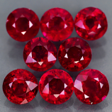 Genuine Rubies 6.0x6.0mm SI Madagascar 1.30ct ea