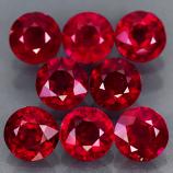 Genuine Rubies 6.0x6.0mm SI Madagascar 1.30ct ea