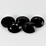 Genuine 100% Natural Black Spinel 1.02ct 7.2x5.2mm Opaque Thailand