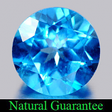 Genuine Blue Topaz 3.75ct 9.1 x 9.1mm Round VS1 Clarity
