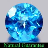 Genuine Blue Topaz 3.75ct 9.1 x 9.1mm Round VS1 Clarity