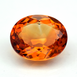 Genuine 100% Natural Citrine 4.77ct 12.3 x 10.2mm Oval VS1 Clarity