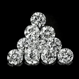Genuine 100% Natural Set DIAMONDS VS1 (10) 1.7 x 1.7mm Round Diamond Cut