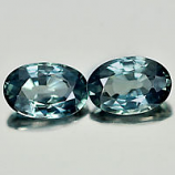 Genuine Bluish Green Sapphires 1.17ct 6.2 x 4.1mm VS1 Madagascar (Pair)